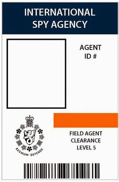 Free 007 Spy Party ID Badge