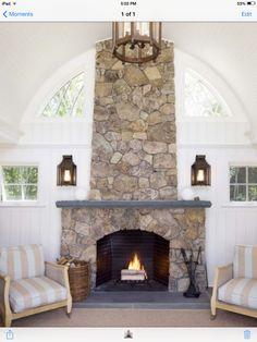#stone fireplace