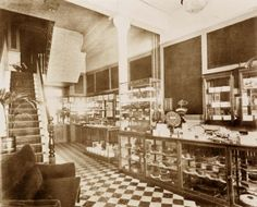 The interior of the first Bettys Harrogate, taken in 1920.