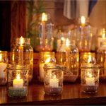 ball jars, idea, masons, candle holders, rustic weddings, mason jar candles, mason jars, light, candle jars