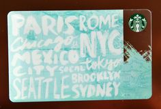 Explore the world. #StarbucksCard
