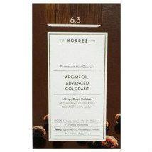 Korres Argan Oil 6.3 Μόνιμη Βαφή Ξανθό Σκούρο/χρυσό/μελί 50ml