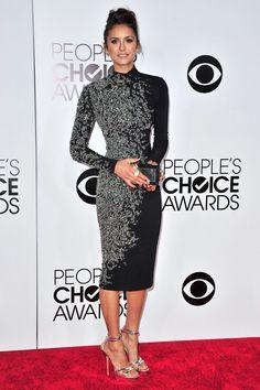 Nina Dobrev in Jenny Packham at the People's Choice Awards 2014
