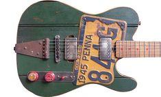 Dismal Ax Guitars.  License plate pick guard also BDASS