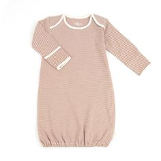 Pinstripe Organic Sleepgown