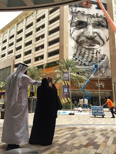 Street Art by Eduardo Kobra in Dubai, United Arab Emirates