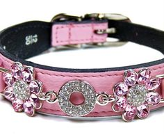 Fresh as a daisy.  Hartman and Rose: Haute Couture Collection  Custom Made Leather Designer Dog Collars