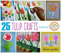 25 Tulip Crafts for Kids