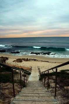 """Stairway to the Beach"" [Photo source from *David*] 120815 Beautiful World, Beautiful Places, Beautiful Pictures, Beautiful Ocean, Amazing Places, The Beach, Ocean Beach, Beach Walk, Ocean Waves"
