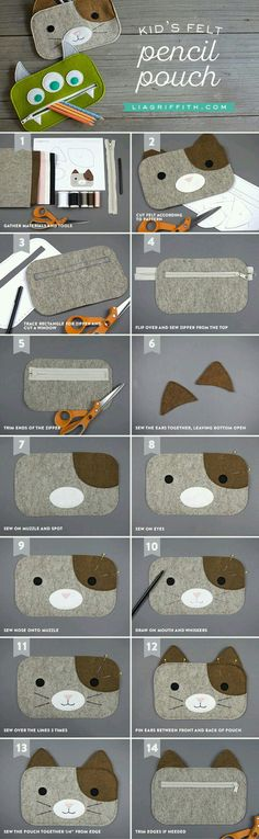 Pencil pouch :Very easy