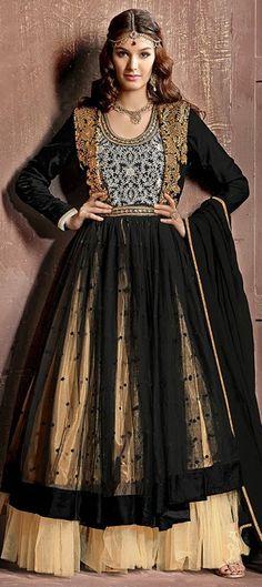 BLACK MAGIC - #black makes everyone look so pretty! Agree?  #Anarkali #Layering…