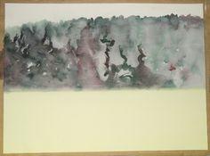 Himmel, Wald und Erde 1. © Lex Hamers 2003 Watercolour. 50 x 70cm
