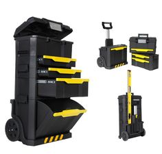 Stanley STA179206 Modular Rolling Workshop Toolbox Chest Detachable Tool Box 1-79-206