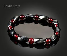 Magnetic Bracelet Faux Hematite Bead Therapy Health Bangle For Men Women Little in Jewelry & Watches, Fashion Jewelry, Bracelets Bracelets For Men, Handmade Bracelets, Bangle Bracelets, Handmade Jewelry, Making Bracelets, Stackable Bracelets, Cute Jewelry, Jewelry Crafts, Beaded Jewelry