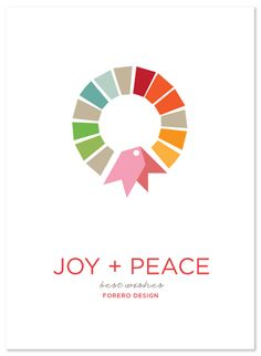 15. Nice colors and fun graphic flair. A simple brilliance.  -------- minted business holiday cards, swatch wreath by chica design