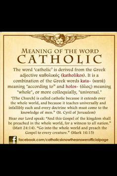 CATHOLIC. Kinda reminds me of My Big Fat Greek Wedding...