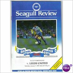 Brighton & Hove Albion v Leeds United 1988/89 FA Cup Football Programme