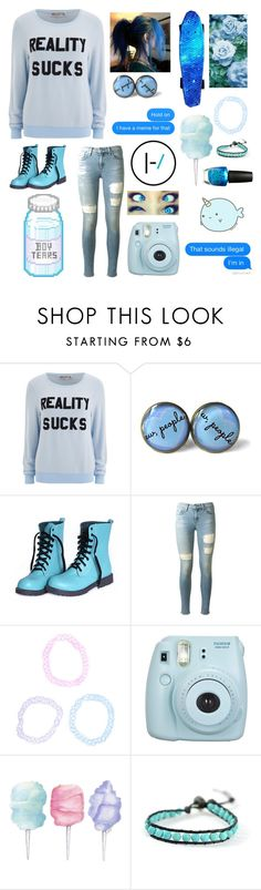 """Blue"" by xxstar-childxx ❤ liked on Polyvore featuring Wildfox, rag & bone, Fujifilm, Cotton Candy, Chan Luu and OPI"
