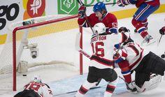 Devils c. Canadien: match du 27 janvier 2013 au Centre Bell - L'attaquant Ryan White célèbre son but, en première période.  Photo Ben Pelosse / Agence QMI