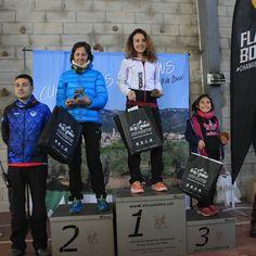 Podi absolut femení  de la 4a cursa dels Biberons de Pinell de Brai (Terra Alta) Copa Terres de l'Ebre 2017 del Circuit de Curses per muntanya.  1a Gemma Colome 2a Pilar  3a. Marta Paulino (recullen trofeu de part seva)  #cursapermuntanya #cursespermuntanya #trailrunning #PinelldeBrai #TerraAlta #TerresdelEbre #circuitebre #vidaactiva #cursadelsBiberons #CursadelsBiberons2017 #ebreactiu
