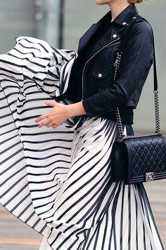 Black & White Pleats