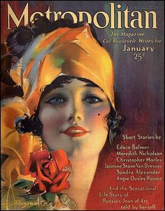 by artist Rolf Armstrong for Metropolitan magazine January, 1919