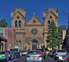 Cathedral Basillica of St Francis of Assisi - Downtown Santa Fe, New Mexico by danjdavis, via Flickr