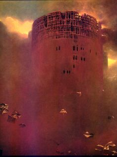 Zdzislaw Beksinski...one of the most phenomenal fantasy artists out there. A bit dark for some, but very powerful.