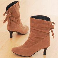 Zapatos de otoño Moda La Mujer Botas de mujeres Botas Botines Sapatos Femininos Femininas 2014 Invierno Tacones altos Talón De Salto Alto