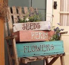 """From:Inspiration Lane  I think I could make little """"pallet"""" boxes, paint them up and just love 'em up!"""