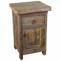 Reclaimed Pallet Wood Nightstand With Hidden By