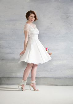 Horse-Drawn Marriage Dress in White, @ModCloth