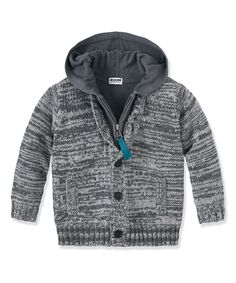 Heather Gray Hooded Cardigan - Infant, Toddler & Boys
