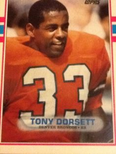 Tony Dorsett - Topps 1989, Denver Broncos Football Card #240 #DenverBroncos