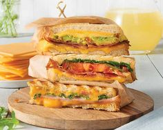Arugula and Ham Grilled Cheese Recipe - The peppery flavor of arugula pairs especially well with thinly sliced ham and meltingly smooth cheese in this custom-crafted grilled cheese sandwich. #Schwans #EasyRecipes #Inspiration