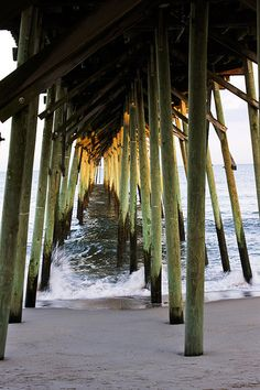 Under The Fishing Pier-Kure Beach NC by G. H. Holt Photography, via Flickr