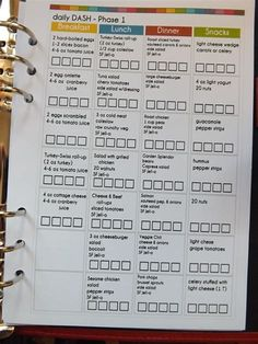 Image result for printable dash diet phase 1 forms