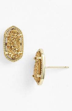 Kendra Scott Ellie Oval Stud Earrings Gold One | Jewelry and Accessory