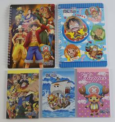 #OnePiece : 2 + 3 Notebooks http://www.japanstuff.biz/ CLICK THE FOLLOWING LINK TO BUY IT ( IF STILL AVAILABLE ) http://www.delcampe.net/page/item/id,0404314821,language,E.html