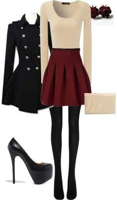 Cute Christmas Outfit Ideas Picture 38 cute christmas outfits for girls my clothes fashion Cute Christmas Outfit Ideas. Here is Cute Christmas Outfit Ideas Picture for you. Cute Christmas Outfit Ideas how to dress for a christmas party 11 fe. Looks Chic, Looks Style, Real Style, Fall Winter Outfits, Autumn Winter Fashion, Holiday Outfits, Winter Wear, Winter Style, Winter Outfits With Skirts