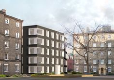 Proposed image of the new block with entrance off the existing courtyard