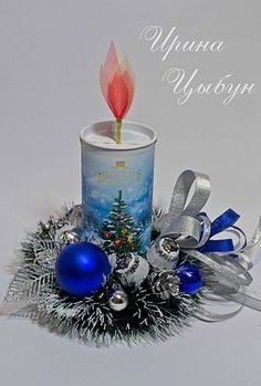 Velas Navideñas con Tubos de Papel Christmas Treats For Gifts, Easy Christmas Decorations, Christmas Door Wreaths, Diwali Decorations, Holiday Crafts, Candy Flowers, Paper Flowers, Simple Christmas, Christmas Crafts