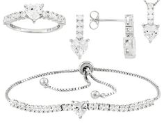 Bella Luce (R) 10.27ctw Rhodium Over Sterling Silver Jewelry Set (5.26