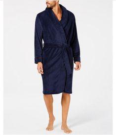 Plus Mens Striped Hooded  Soft Feel Dressing Gown Lounge robe Wrap   XL XXL 3XL