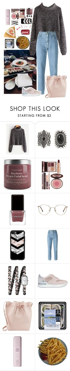"""#foodie"" by mariaguise ❤ liked on Polyvore featuring New Look, Charlotte Tilbury, Context, Casetify, Moschino, Chanel, Hogan and Mansur Gavriel"