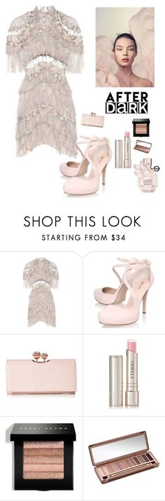 """""""A Formal Evening Out"""" by kotnourka ❤ liked on Polyvore featuring Zimmermann, Carvela, Ted Baker, By Terry, Bobbi Brown Cosmetics, Urban Decay and Viktor & Rolf"""