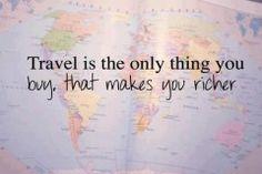 I love traveling !