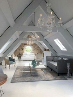 15 attic rooms that you would like to tidy up as quickly as possible . up room attic rooms that you want to tidy up as quickly as possible . - attic rooms that you would like to tidy up as quickly Attic Master Bedroom, Attic Bedrooms, Bedroom Loft, Huge Bedrooms, Attic Bedroom Decor, Diy Bedroom, Loft Bathroom, Bathroom Grey, Extra Bedroom