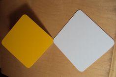 "10pcs. .040 9"" x 12"" Gloss CAUTION YELLOW/Gloss White Aluminum Sign Blank w/ RC | eBay"