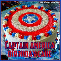 Captain America shield cake -the boy will be getting something like this for his b-day
